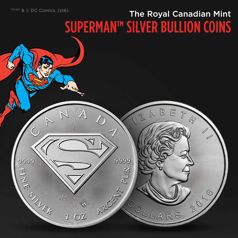 Royal Canadian Mint's Man of Steel™ Coin Now Available at APMEX