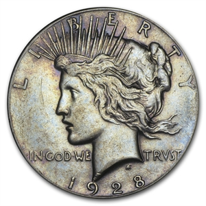 1928 Peace Dollar Xf Peace Dollars 1921 1935 Date