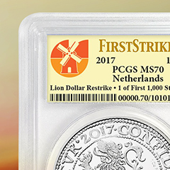 APMEX Releases Certified Dutch Lion Dollar Restrikes