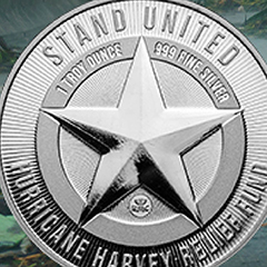 Support Hurricane Relief Efforts with These 1 oz Silver Rounds