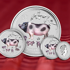 Perth Mint Colorized Lunar Coins Celebrate the Year of the Pig at APMEX