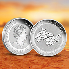 Celebrate One of the Largest Gold Nuggets With a Beautiful Silver Coin at APMEX