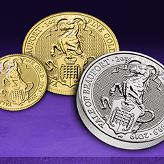 Shop New Royal Mint Products During the APMEX 2019 Queen's Beasts Yale of Beaufort Sweepstakes