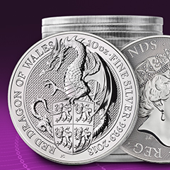 APMEX Introduces Next Royal Mint Queen's Beasts Release – Plus Enter to Win 150 oz of Silver