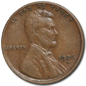 1926 D Lincoln Cent Xf Coin For Sale Lincoln Wheat