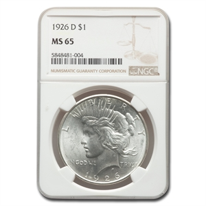 1926 D Peace Dollar Ms 65 Ngc Coin For Sale Peace