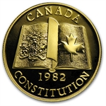 Canada 1982 1 2 Oz Gold 100 Constitution Proof Impaired