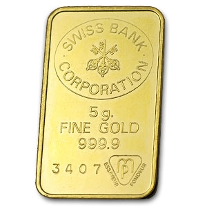 5 Gram Gold Bar Swiss Bank Corporation All Other