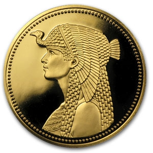 Ah1404 1984 Egypt Proof Gold 100 Pound Cleopatra Gold